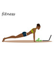 african american fitness girl with trainer vector image vector image