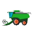 Agricultural combine machine is ready for vector image vector image
