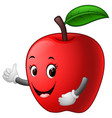 apple with face vector image vector image