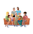 big family gathering together concept vector image vector image