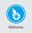 bitshares - cryptocurrency logo vector image