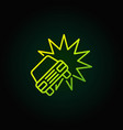 car crash or accident green icon vector image vector image