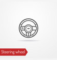 car steering wheel silhouette style image vector image
