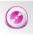 CD or DVD icon disc compact disk vector image vector image