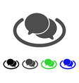chat flat icon vector image vector image