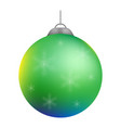 christmas decoration ball vector image