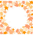 circle frame colorful autumn leaves vector image vector image