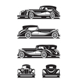 Classic car in different views vector image vector image