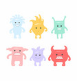 colorful cute monsters set vector image