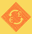 currency exchange sign euro and uk pound vector image vector image