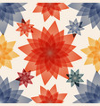 decoupage with red blue and yellow flowers vector image