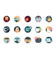 digital marketing advertising media icons set vector image vector image
