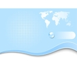 earth planet - web banner vector image vector image