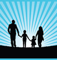 family with happy children in beauty landscape vector image vector image