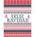 feliz navidad nordic style christmas vector image vector image