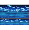 field and wind generators at night vector image vector image