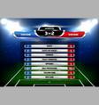 football statistics scoreboard template vector image