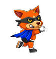 fox wearing black mask is standing with one vector image