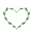Fresh Green Leaves in A Lovely Heart Shape vector image vector image