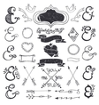 Hand drawing lettering ampersands kit Wedding vector image vector image