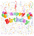 happy birthday the colored inscription with vector image
