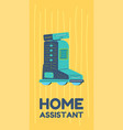 home assistant and robot artificial intelligence vector image