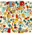 Internet Of Things Seamless vector image vector image