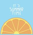 its summer time orange blue background ima vector image vector image
