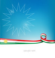 kurdistan lag on background vector image vector image