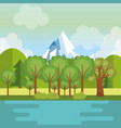 landscape with mountains and lake scene vector image vector image