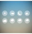 Light weather icons vector image vector image