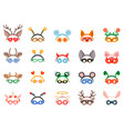 masquerade head decor and mask set vector image vector image