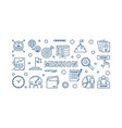 mission blue concept outline horizontal vector image vector image