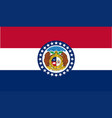 missouri state flag vector image vector image