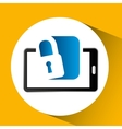 mobile phone icon secure social media vector image vector image