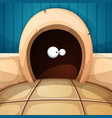 mouse mink interior cartoon vector image
