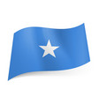 national flag of somalia white star in center of vector image vector image