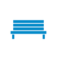 Outdoor park wooden bench icon vector image
