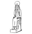 pakhet was a feline war gods in egyptian vector image vector image