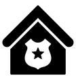 Police Office Flat Icon vector image