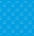 postcard pattern seamless blue vector image