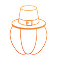 pumpkin fresh with thanksgiving hat vector image