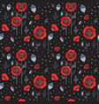red poppy wildflower botanical pattern vector image vector image