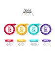 rings with arrows for infographic business vector image