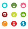 rip icons set flat style vector image vector image