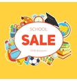 School supplies and sale text block vector image vector image
