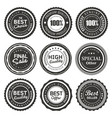 seal labels quality product vector image