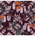 Seamless pattern with toucans and ethnic ornament vector image vector image