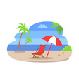 seaside water beach isolated vector image vector image
