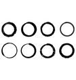 set hand drawn doodle circle line sketch vector image vector image